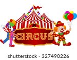 Circus Tent With Clown....