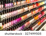 set of different nail varnishes ... | Shutterstock . vector #327499505