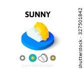sunny icon  vector symbol in...