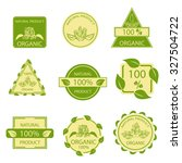 organic natural emblems... | Shutterstock .eps vector #327504722