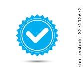 vintage emblem medal. yes icon. ... | Shutterstock .eps vector #327512672