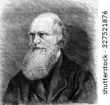 charles darwin died in april of ... | Shutterstock . vector #327521876
