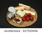 onion jam with cheese | Shutterstock . vector #327524456