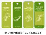 hand drawn label set with... | Shutterstock .eps vector #327526115