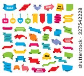 web stickers  banners and... | Shutterstock .eps vector #327542228