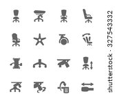 simple set of office chair... | Shutterstock .eps vector #327543332