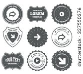 vintage emblems  labels. arrow...
