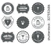 vintage emblems  labels.... | Shutterstock .eps vector #327552686