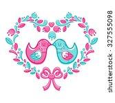 love birds   Shutterstock .eps vector #327555098