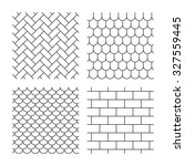 bricks  tile roof and paving... | Shutterstock .eps vector #327559445