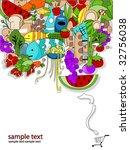 food shopping design   vector   Shutterstock .eps vector #32756038