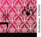 damask and candelabra   Shutterstock .eps vector #32756542