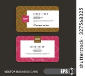 business card template tag...   Shutterstock .eps vector #327568325