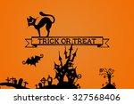 halloween background. trick or... | Shutterstock . vector #327568406