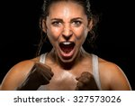 ambitious victorious confident... | Shutterstock . vector #327573026