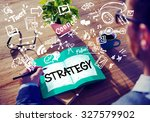 strategy online social media... | Shutterstock . vector #327579902
