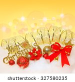 red christmas bow_christmas... | Shutterstock . vector #327580235