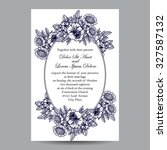 invitation with floral... | Shutterstock .eps vector #327587132