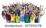 group of students community... | Shutterstock . vector #327592178
