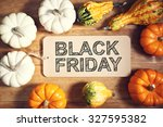 black friday message with... | Shutterstock . vector #327595382