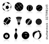 twelve different black and... | Shutterstock . vector #327598145
