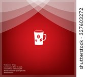 white cup icon | Shutterstock .eps vector #327603272