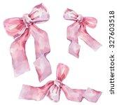 ribbon  watercolor | Shutterstock . vector #327603518