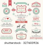 christmas label and design... | Shutterstock .eps vector #327603926