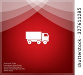 pictograph of truck | Shutterstock .eps vector #327611285