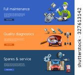 car repair and diagnostics... | Shutterstock . vector #327613142