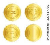 set of different gold seal  ... | Shutterstock . vector #327617702