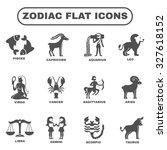 zodiac and horoscope symbols... | Shutterstock . vector #327618152