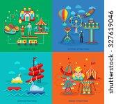 amusement park design concept... | Shutterstock . vector #327619046