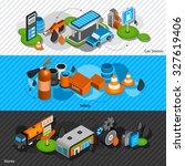 gasoline diesel fuel station... | Shutterstock . vector #327619406
