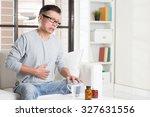 mature 50s asian man... | Shutterstock . vector #327631556