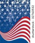 american flag background | Shutterstock .eps vector #32763532