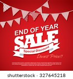 end of year sale | Shutterstock .eps vector #327645218
