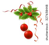vector christmas holly with...   Shutterstock .eps vector #327658448