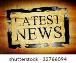black latest news stamp on... | Shutterstock . vector #32766094