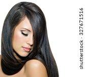 beautiful young brunette woman ... | Shutterstock . vector #327671516