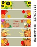 autumnal banners for... | Shutterstock .eps vector #327673118