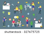 teamwork and social network... | Shutterstock .eps vector #327675725