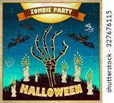 halloween vector illustration   ... | Shutterstock .eps vector #327676115