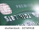 Credit card background with shallow depth of field - stock photo