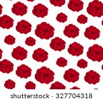 Stock vector red rose on white background seamless pattern 327704318