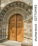 Exterior Door Of  Ancient Ruin...