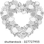 decorative wreath in the form... | Shutterstock .eps vector #327727955