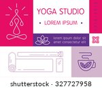 yoga studio flayer in modern... | Shutterstock .eps vector #327727958