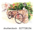 watercolor summer illustration... | Shutterstock . vector #327728156