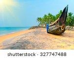 Fishing  Boat On Tropical Beac...